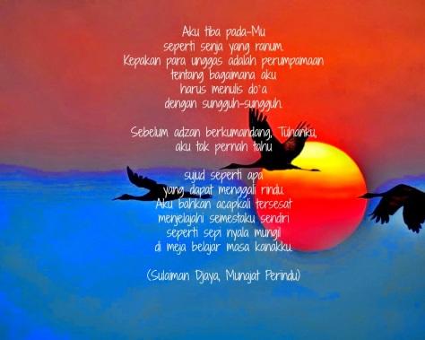Puisi Munajat Perindu Karya Sulaiman Djaya